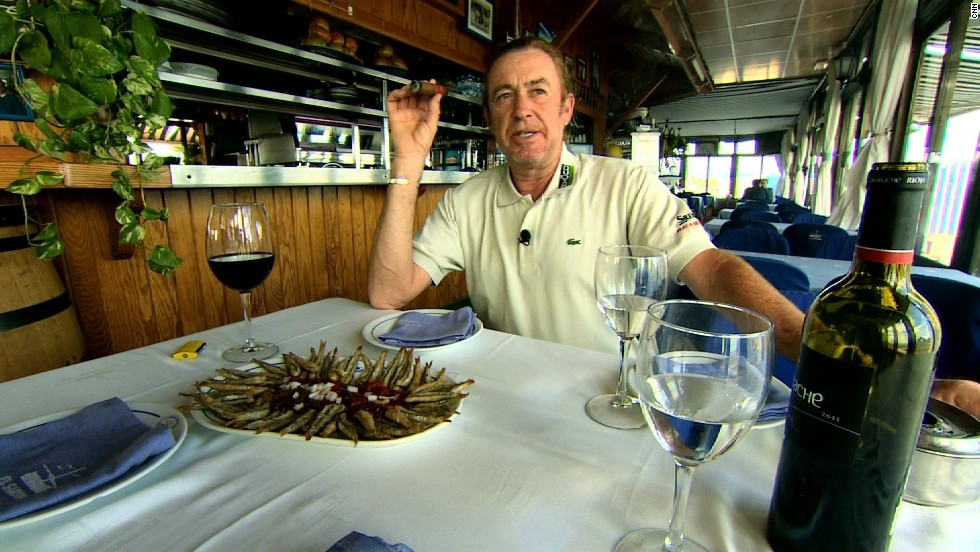 Food and drink are just two of Jimenez's passions in life -- along with his trusty cigar.