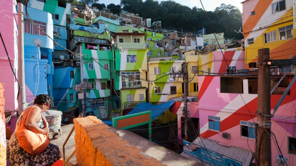 Dutch artists Haas&Hahn converted the homes of Favela Santa Maria in Rio de Janeiro into art.
