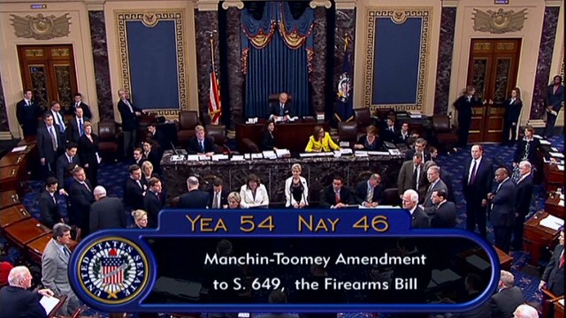 Gun control amendment fails in Senate