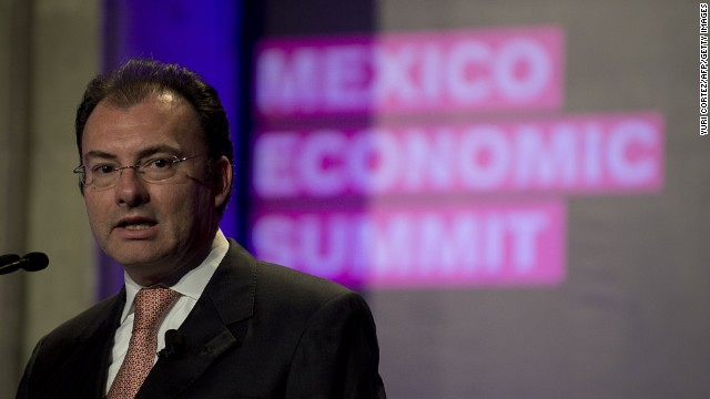 Mexican Secretary of Finance Luis Videgaray speaks at the Mexico Economic Summit in Mexico City on March 21.