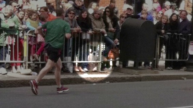 Picture shows suspicious bag at marathon