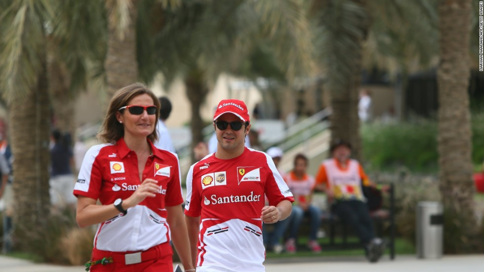 Inside the Formula One paddock, and away from the protests, the teams and drivers got on with business as usual. Ferrari driver Felipe Massa spoke to the press on Thursday as a two-time winner in Bahrain.