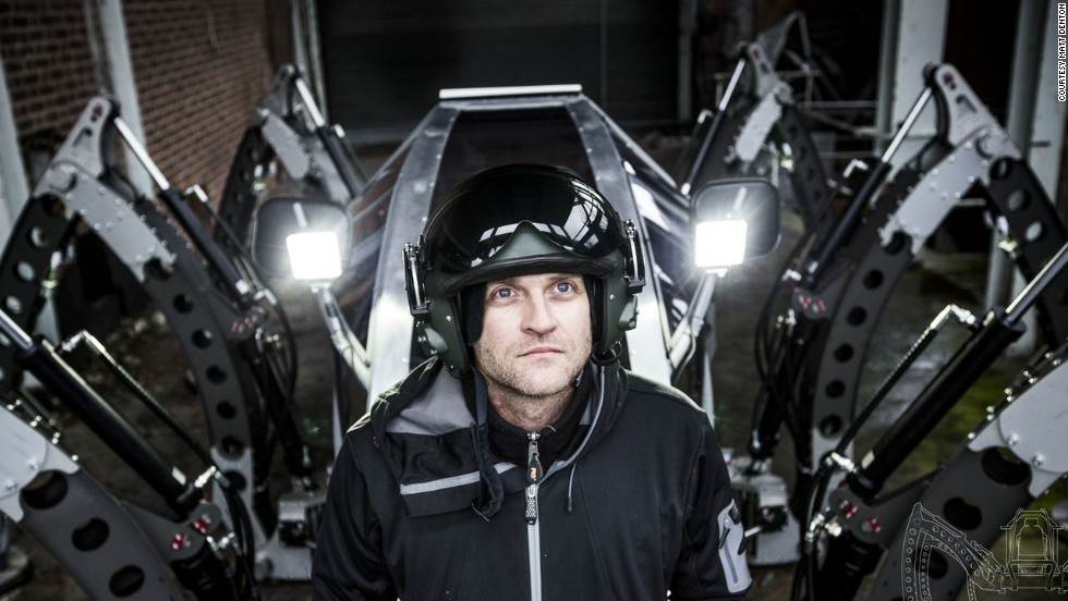 """""""Seeing the imposing images of an AT-AT (All Terrain Armored Transport) walking across a snow scape really got me fascinated with the concept of using legged locomotion on vehicles,"""" Denton says."""