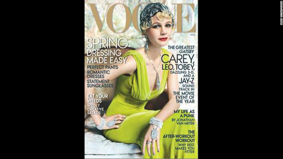 "Thanks to Carey Mulligan's role as Daisy Buchanan in Baz Luhrmann's adaptation of ""The Great Gatsby,"" the <a href=""http://www.vogue.com/magazine/article/great-expectations-carey-mulligan-as-daisy-buchanan-in-the-great-gatsby/#1"" target=""_blank"">May issue of Vogue</a> offers a glamorous 1920s take on the actress."