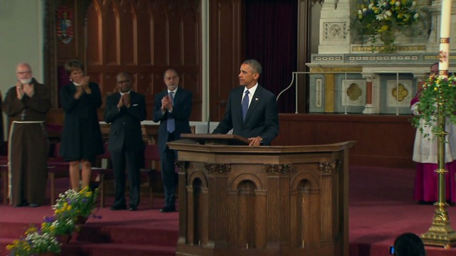 Obama in Boston: We'll 'grow stronger'