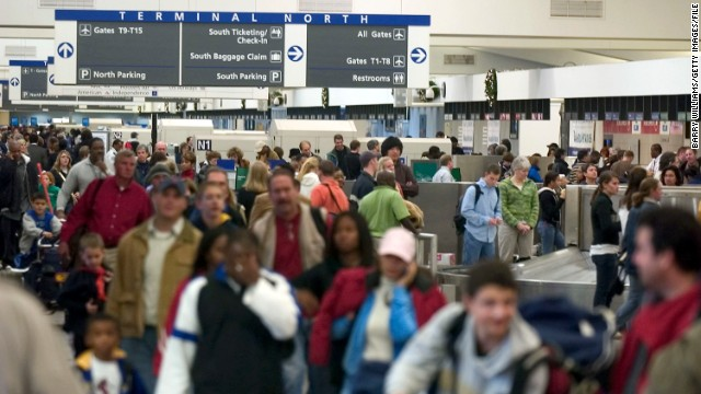 Atlanta's Hartsfield-Jackson airport may face delays of more than three hours when sequester-related furloughs start.