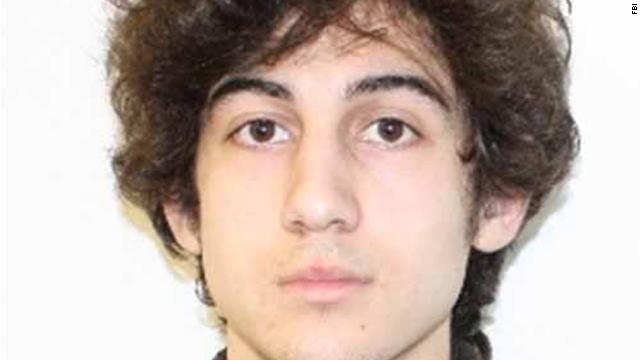 Tsarnaev looks at spectators in court