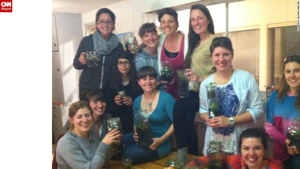 "Gillian Walker of Victoria, British Columbia, <a href=""http://ireport.cnn.com/docs/DOC-959293"">got together with friends</a> to gather materials and make terrariums together."