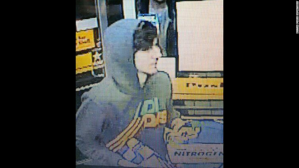 Tsarnaev was seen on this convenience store surveillance video that was released by the Boston Police Department.
