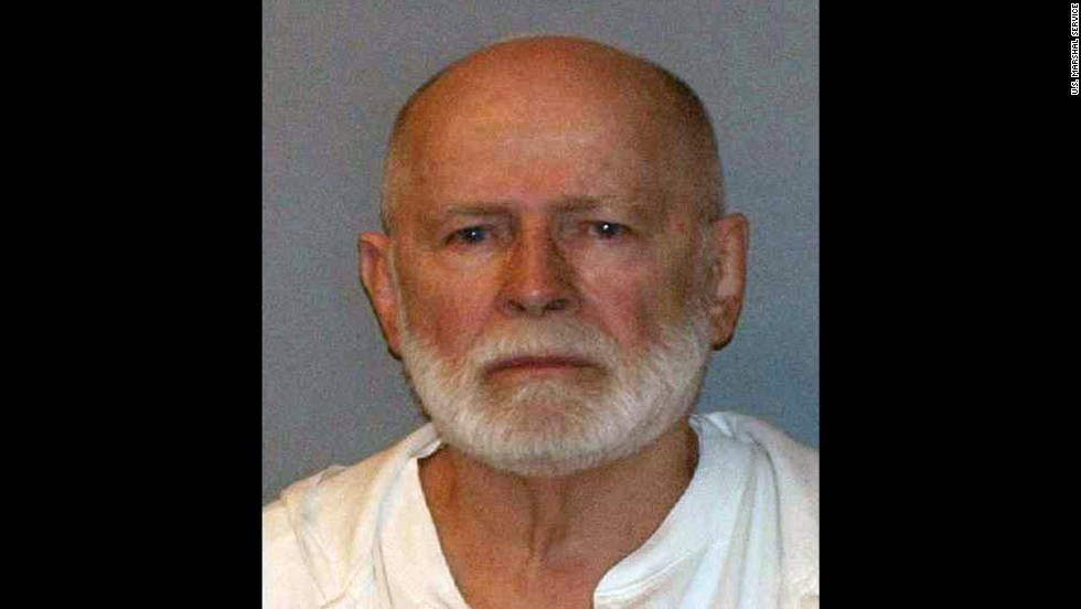 "Convicted mob boss James ""Whitey"" Bulger spent more than a decade on the FBI's ""Most Wanted"" list before being arrested in June 2011 in Santa Monica, California. The jury in his federal racketeering trial found him guilty on 31 of 32 counts -- including involvement in 11 murders -- in August 2013. He is currently serving two consecutive life sentences in prison."