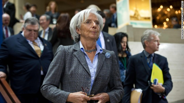 IMF Managing Director Christine Lagarde at the 2013 World Bank/IMF Spring meetings in Washington on April 19.