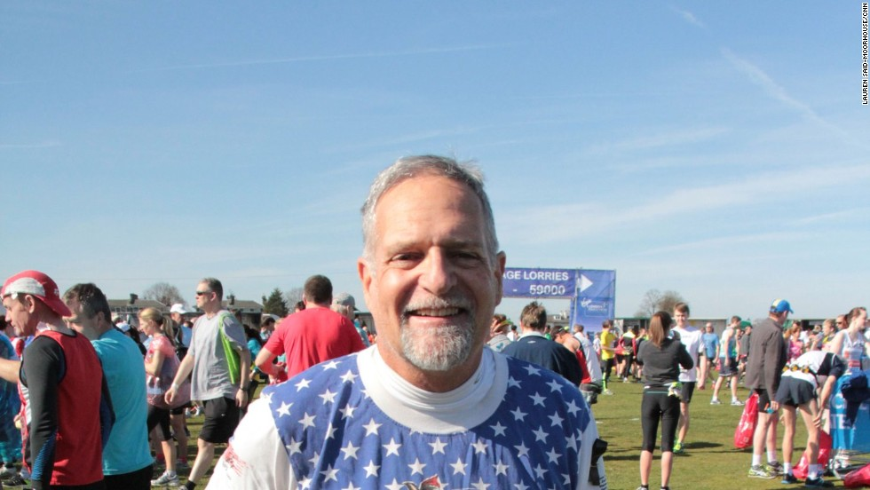 "Bill Higgins, 62 from California is a seasoned marathon runner having competed in 84 races. He told CNN: ""I've run Boston three times and (the Boston terror attack) really hit home. It's a thrill and an honor to be here."""