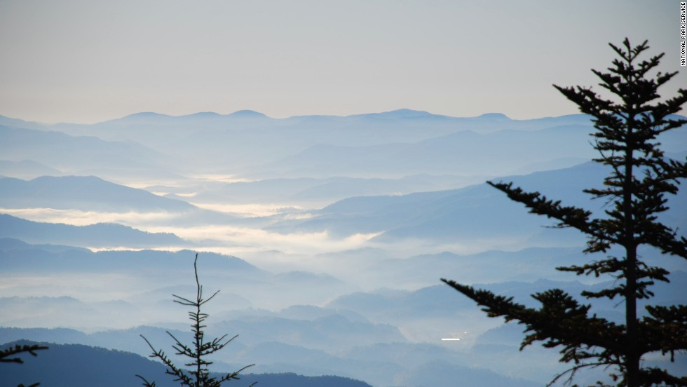 The views in Great Smoky Mountains National Park, located in North Carolina and Tennessee, are spectacular.