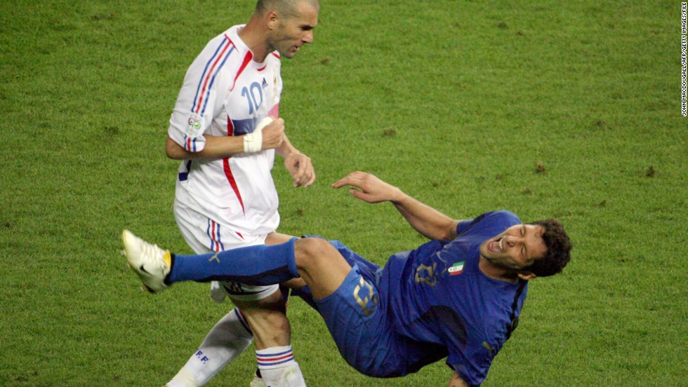 In the 2006 World Cup final, French superstar Zinedine Zidane was sent off for headbutting Italy's Marco Materazzi. Remarkably, Zidane still won the Golden Ball for the World Cup's best player.