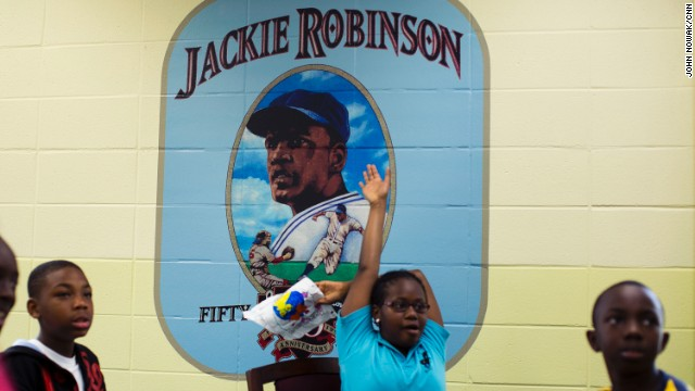 Jackie Robinson was born into a family of sharecroppers in Cairo, Georgia, in 1919. He went on to become the first black player in Major League Baseball in the modern era.