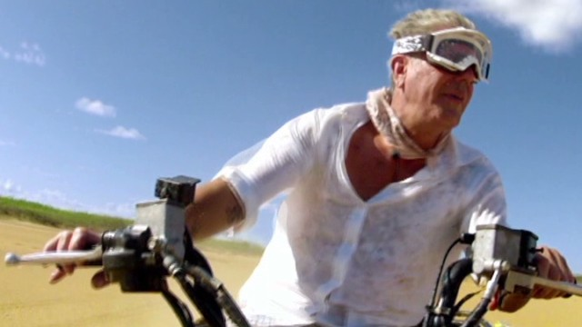 Anthony Bourdain on a four-wheeler in Colombia (2). This is from Episode 3 of Anthony Bourdain Parts Unknown