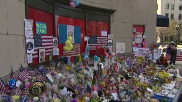 Boston pauses to remember