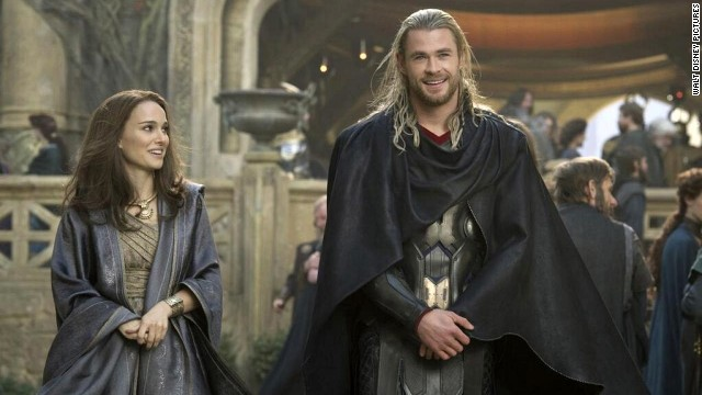 "Internationally, ""Thor: The Dark World "" starring Natalie Portman and Chris Hemsworth has grossed $332.8 million."