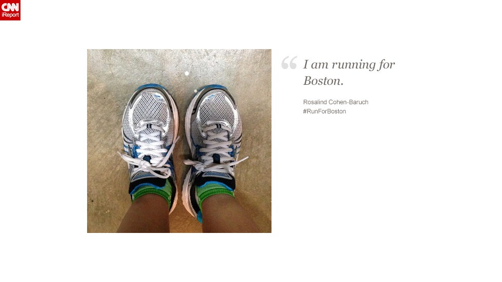 Rosalind Cohen-Baruch, 44, from San Francisco, started running to lose weight and feel better about herself. She's running for people who have had that feeling taken away.
