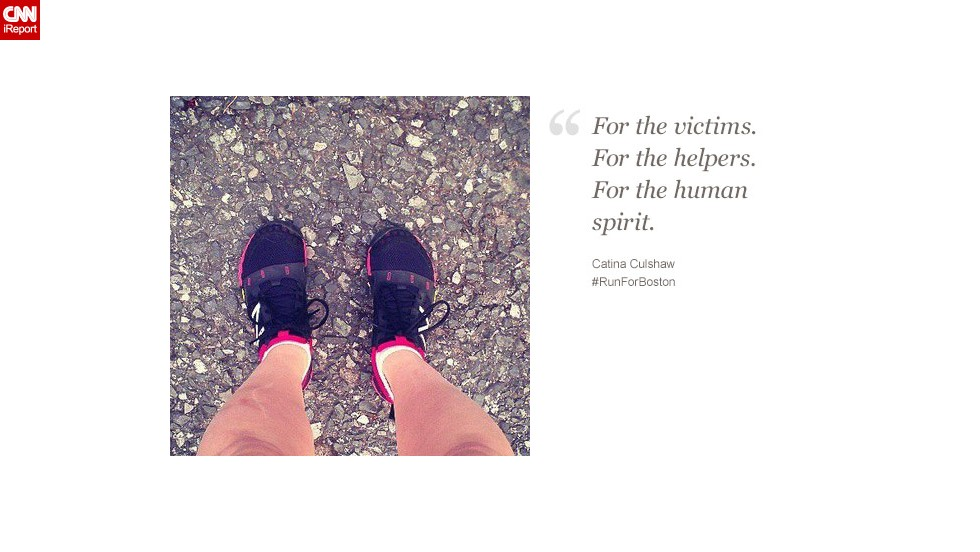 """""""The bombings reminded me that I have a gift. I have my legs,"""" says Catina Culshaw, 39, from Birdsboro, Pennsylvania."""
