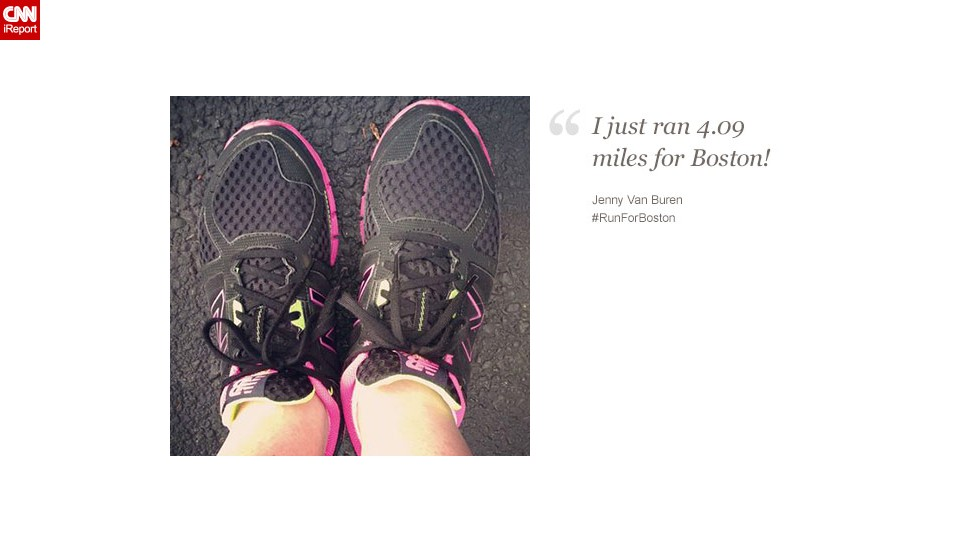 """Jenny Van Buren, 43, from Ohio, said the Boston bombing only """"makes me want to run farther!"""""""
