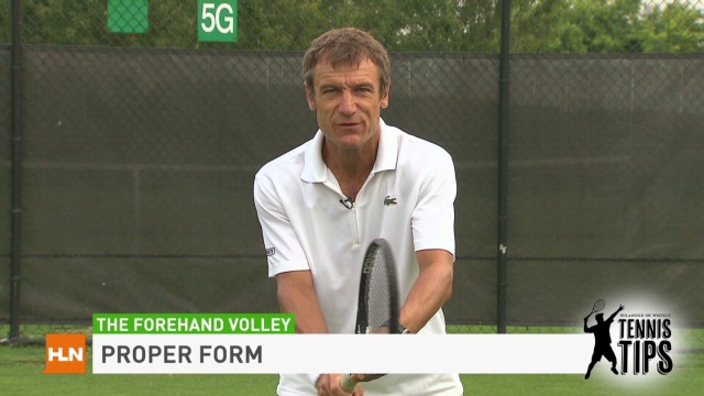Tennis Tips: Forehand volley