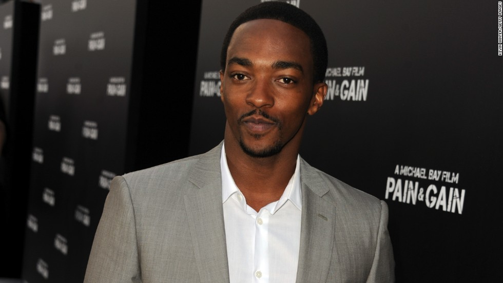 "Anthony Mackie arrives at the premiere for ""Pain & Gain."""