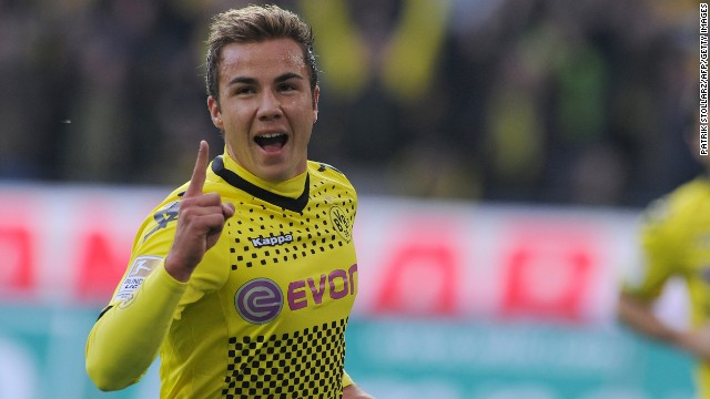 German international Mario Goetze made his Borussia Dortmund debut in 2009.