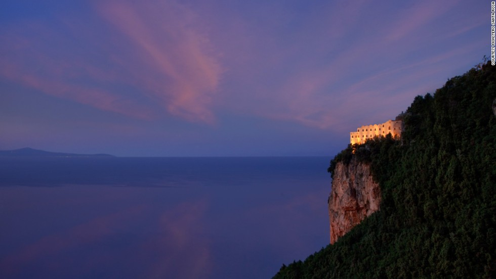 This stunning clifftop hotel on Italy's Amalfi coast was originally a 17th-century monastery.