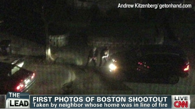 Neighbor photographs Boston shootout