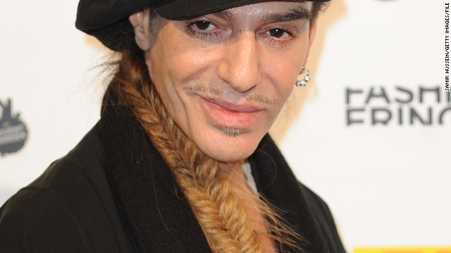 John Galliano is pictured at London Fashion Week on September 18, 2010.