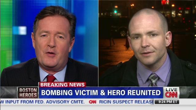 2013: Bombing victim and hero reunited