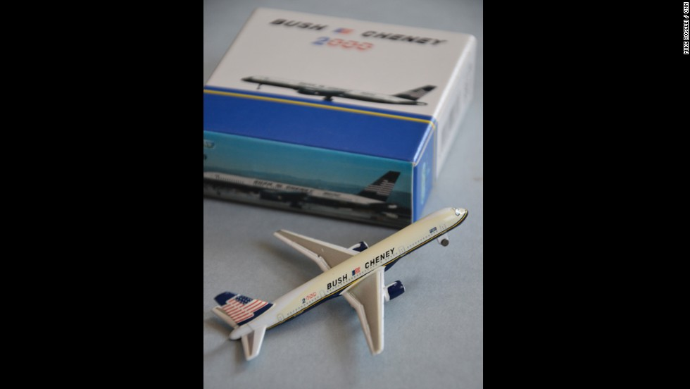 Since 1960 and JFK, presidential candidates have crisscrossed the country in their own campaign planes... painted with logos, slogans and the American flag -- the Bush campaign was no exception -- it even made a metal die-cast version.