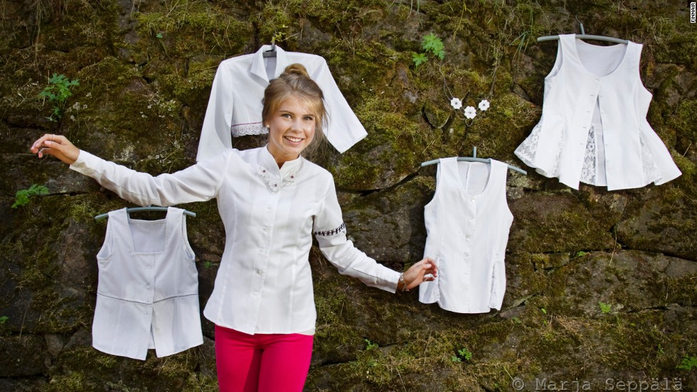 Airlines are getting savvy with sustainability. Finnair gives old uniforms new life by donating them to local designers for re-imagining.