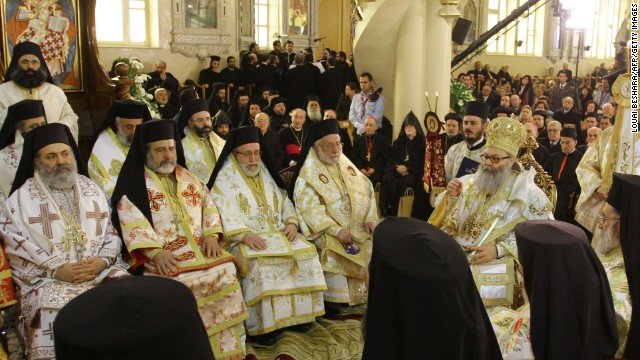 Enthroanment in Damascus of Yuhanna X Yazigi as the Patriarch of Antioch, on February 10, 2013.