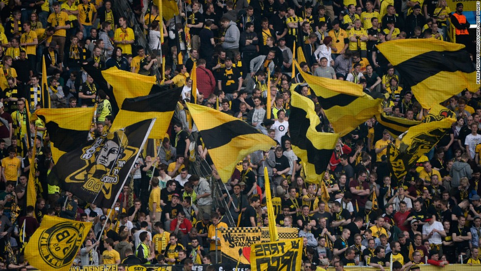 Borussia Dortmund fans are famed across the globe for their flags, banners and chants. Their team, which last won the competition in 1997, defeated Malaga in dramatic fashion in the quarterfinals to make it through to the last four.