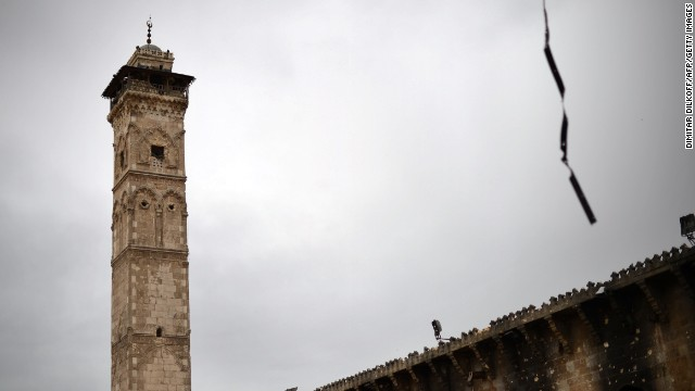 12th-century mosque's minaret destroyed