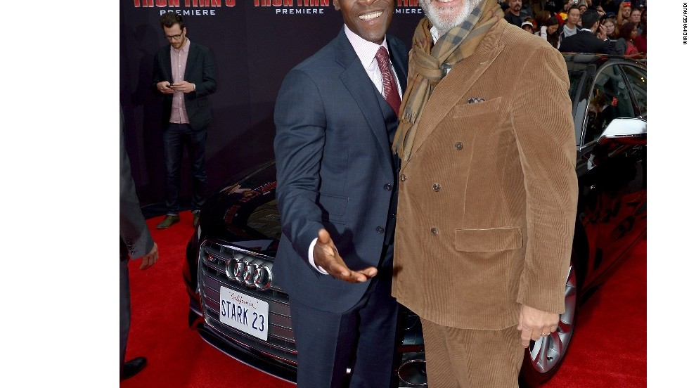 "Don Cheadle and Andy Garcia attend the ""Iron Man 3"" premiere, presented by Audi."
