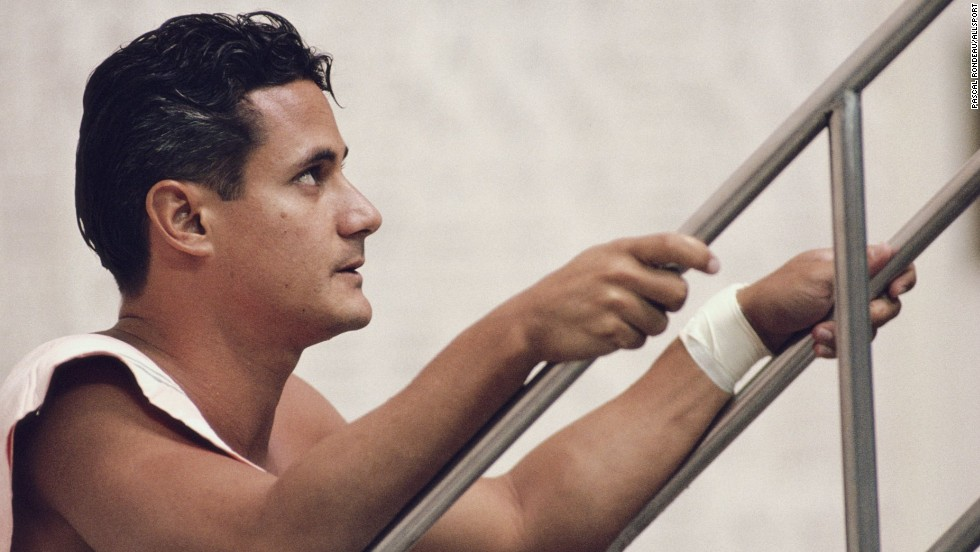 "American four-time Olympic gold medallist Greg Louganis came out as gay when he was diagnosed with HIV in 1988. He told CNN's Piers Morgan in 2012 he believes in ""equal rights for everybody."""