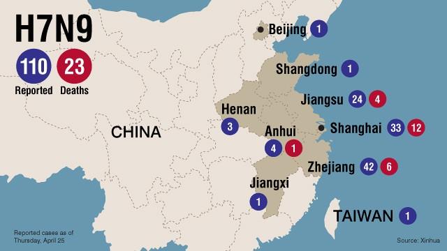 Map: Bird flu spread