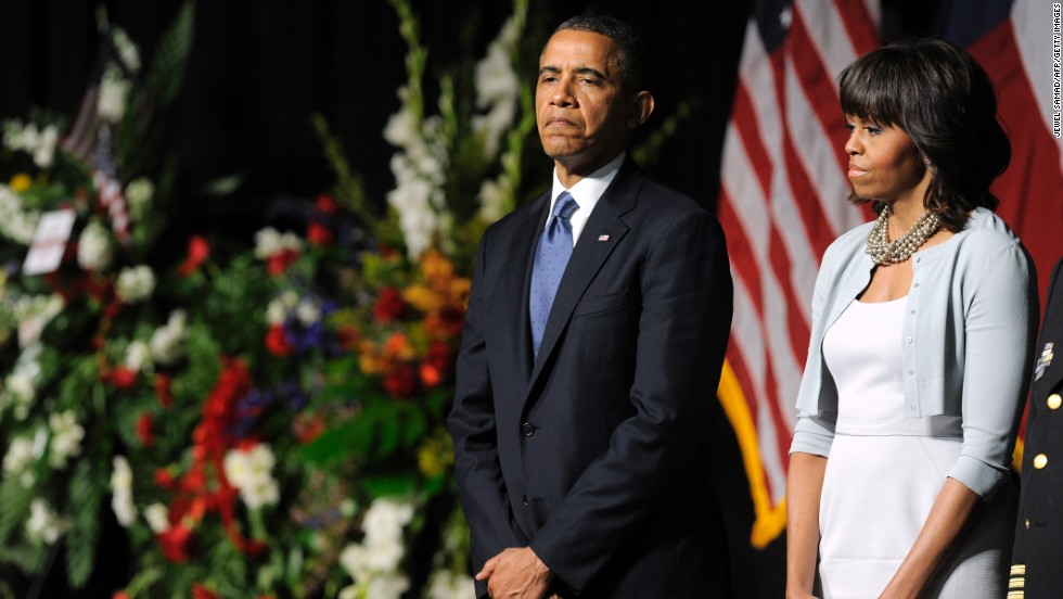 Obama attends a memorial service at Baylor University in Waco, Texas, in April 2013. Fourteen people, nearly all first responders, died in an explosion at the West Fertilizer Co.