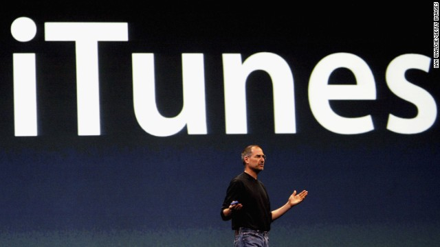 The late Apple CEO Steve Jobs upended the music landscape with the iTunes store, launched in April 2003.