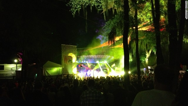Cell phone photo taken at Wanee Festival: Somewhere in there is a band.