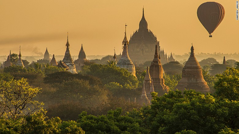 The capital city of the first Myanmar Kingdom, this enormous Buddhist complex on the Irrawaddy River contains more than 2,500 intricate monuments dating to the 10th century. It's a slip in time to an Asia that no longer exists in many other places.