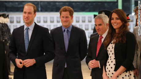 LONDON, ENGLAND - APRIL 26:  Prince William, Duke of Cambridge, Catherine, Duchess of Cambridge and Prince Harry smile during the Inauguration Of Warner Bros. Studios Leavesden on April 26, 2013 in London, England.  (Photo by Chris Jackson/Getty Images)