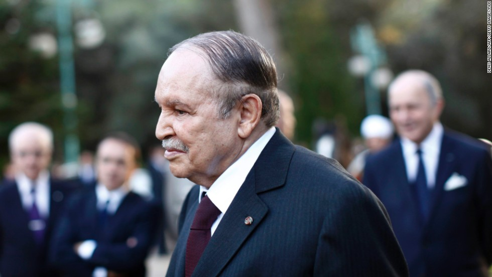 Abdelaziz Bouteflika, 76, President of Algeria.