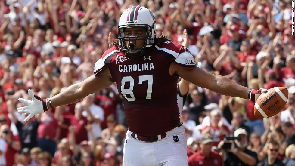 "Justice Cunningham, a tight end from South Carolina, was the final pick of the 2013 NFL Draft, earning him the title of ""Mr. Irrelevant."""
