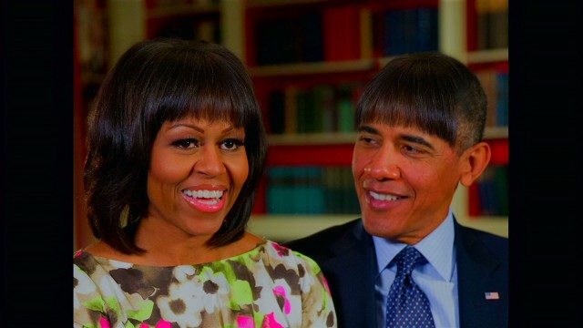 Raw: Obama's new look