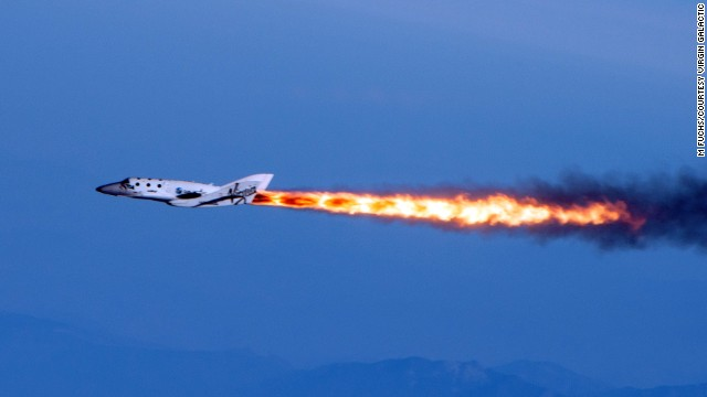 Virgin Galactic's SpaceShipTwo goes supersonic