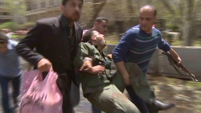 Syrian blast disintegrated bus